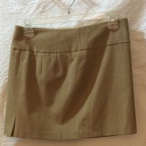 The Limited Women's Beige Mini Skirt Zippered Back